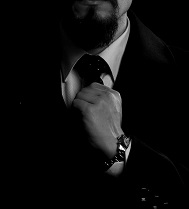 Black and White Pic of Suit