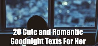 20 Cute And Romantic Goodnight Texts For Her